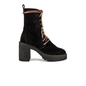 Free People Dylan Lace Up Suede Combat Boot